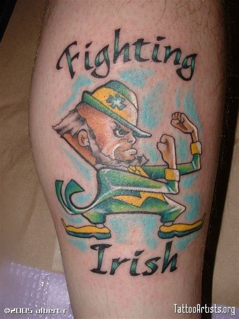 notre dame tattoo the fighting irishtattoo