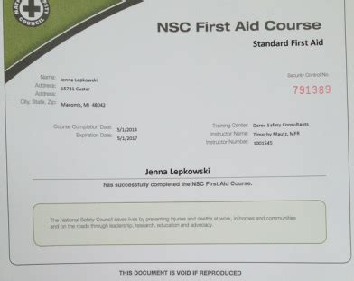 national safety council cpr card template certification salkowski s teaching portfolio