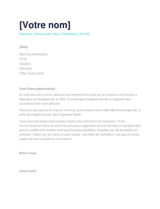 Lettre De Motivation Lettre Facile lettre de motivation simple office templates