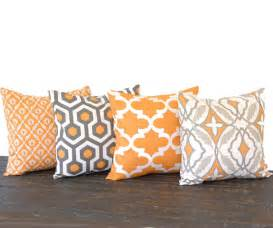 throw pillow covers 20 x 20 set of four pumkin by