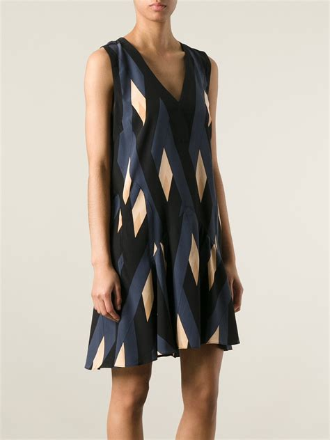 diamond pattern clothes called marc by marc jacobs diamond pattern dress in blue lyst