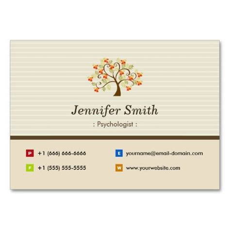 symbols business card templates psychologist tree symbol business cards mijn
