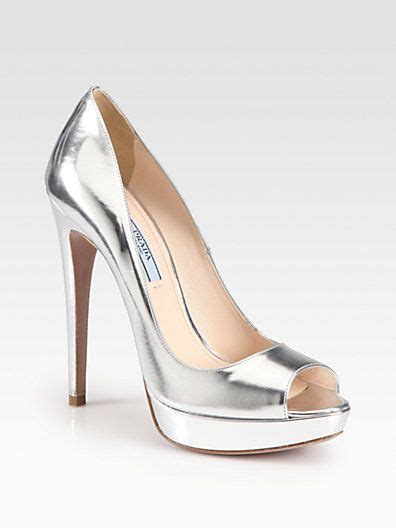 Wedding Shoes Saks by Www Prada Prada Metallic Leather Pumps Saks