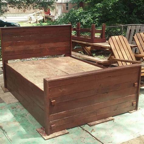 king size pallet bed diy pallet bed king size