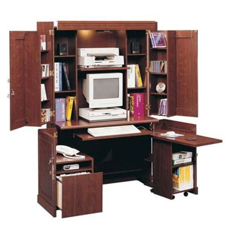 Armoire With Desk by Diy Sauder Armoire Computer Desk Wooden Pdf Building A