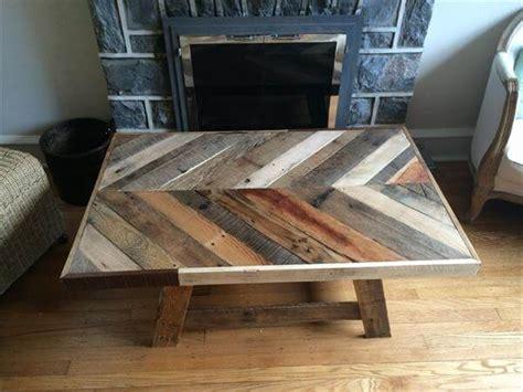 Diy Coffee Table Top Diy Pallet Chevron Top Coffee Table Pallet Furniture Diy