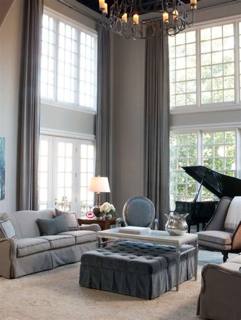 houzz curtains living room high ceiling curtain houzz