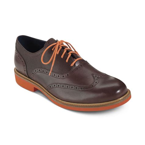 cole haan shoes cole haan great jones wingtip lace shoes in brown for