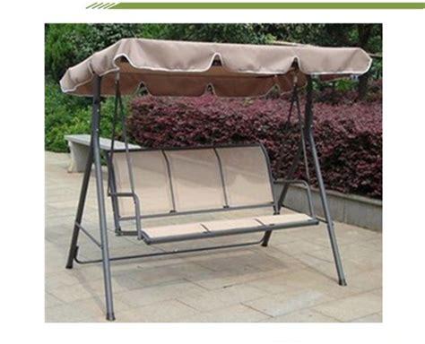 metal swing frame outdoor furniture high class metal frame chambray garden swing chair outdoor