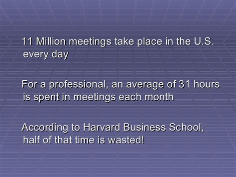 Harvard Mba Waste Of Time by Meetings Matter