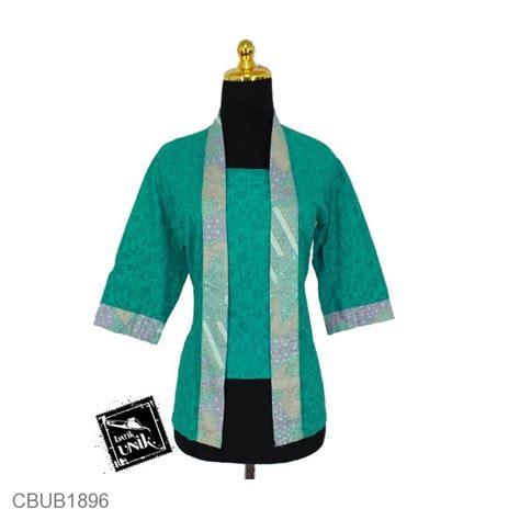 Blus Batik Kutu Baru Embos Kode Ba6639 blus tanggung kutu baru motif kembang ceplok blus lengan