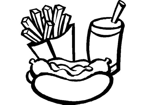 coloring pages of hot dogs hot dog with fries cliparts co