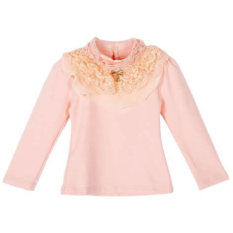 Bow Lace Sleeve T Shirt toddler baby clothes sleeve princess lace