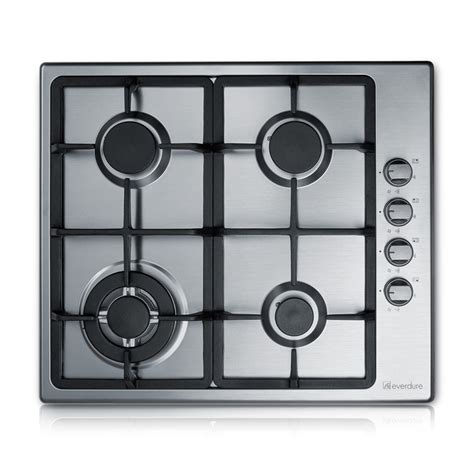 gas cooktop with wok burner everdure 60cm 4 burner gas cooktop with wok ring