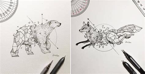 imagenes de animales fusionados dibujos de animales fusionados con formas geom 233 tricas