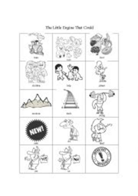 The Little Engine That Could - pictionary - ESL worksheet