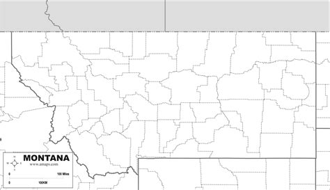 Montana Map Outline by Free Map Of Montana