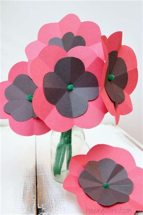 paper poppy flower tutorial diy paper poppy housing a forest