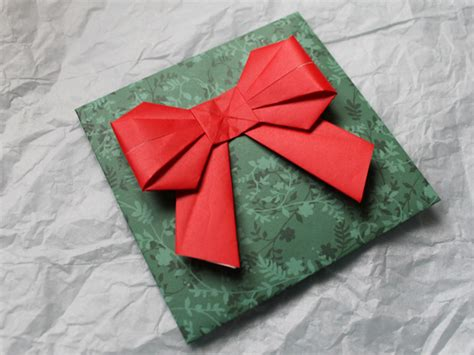 Gift Wrapping Origami - how to origami bow for gift wrapping and mailing loulou