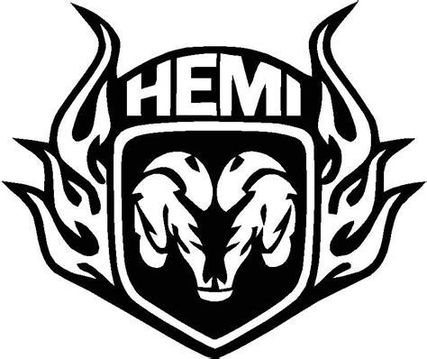 Auto Logo Ram by Decal Sticker Cut Vinyl Car Truck Dodge Hemi Window Decal