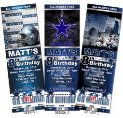 dallas cowboys nfl custom ticket invitations by aainvites 8 99 time