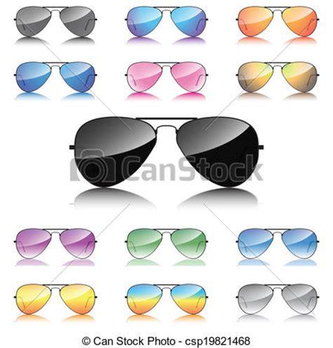 clipart occhiali specchio set occhiali da sole icone