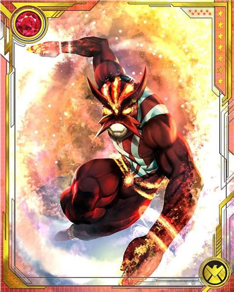 marvel woh card template 17 best images about sunfire on solar mariko