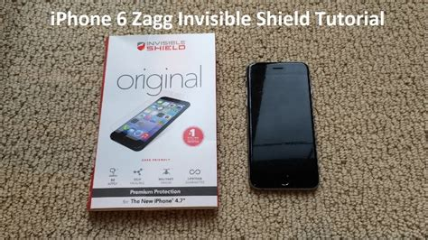 tutorial iphone  zagg invisible shield youtube