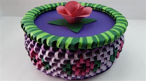 3d origami box tutorial how to make a 3d origami box with flowers diy tutorial