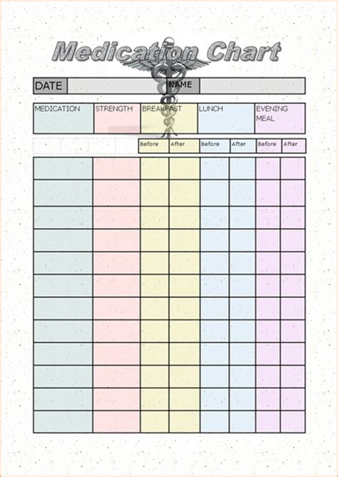 medicine calendar template 4 medication schedule template procedure template sle
