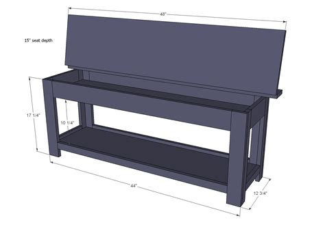 flip top storage bench woodworking plans woodshop plans
