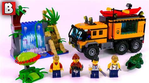 Lego City 60160 Jungle Mobile Lab lego jungle mobile lab 60160 city 2017 set unbox build time lapse review