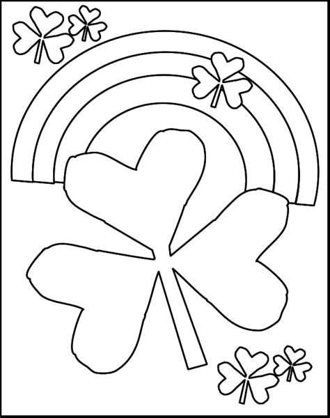 preschool coloring pages for march st patrick s day shamrocks and rainbows free coloring
