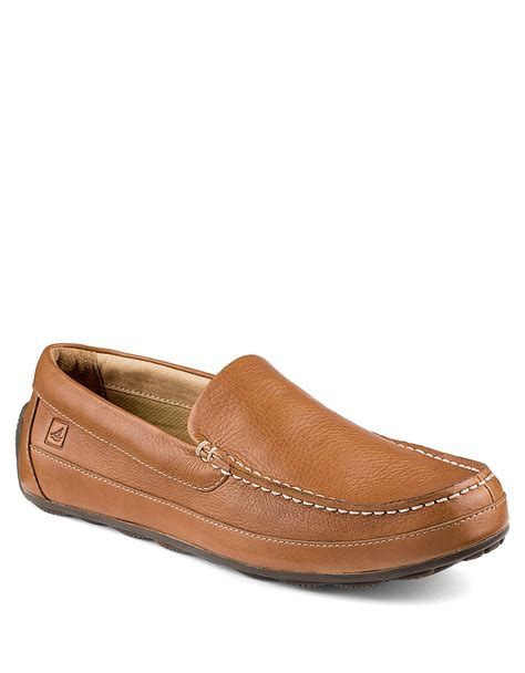top loafers for sperry top sider hden leather loafers in beige for