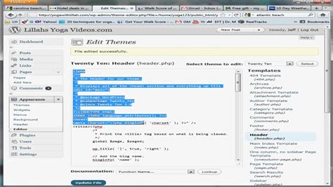 how to edit php css and html in wordpress youtube