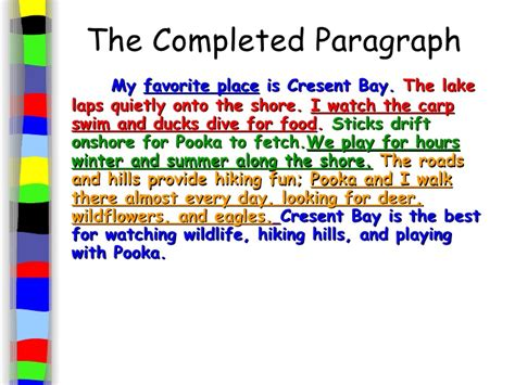 My Favourite Place Essay by Introduction To Paragraphs