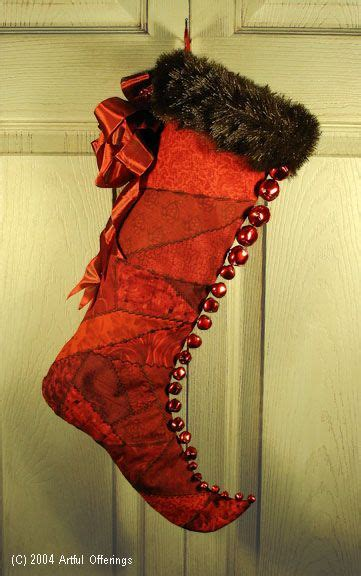 free pattern for victorian christmas stocking victorian elf stocking pattern by artful offerings