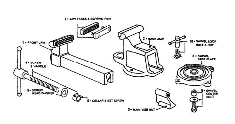 diagram of bench vice bench vise parts diagram bench free engine image for user manual download