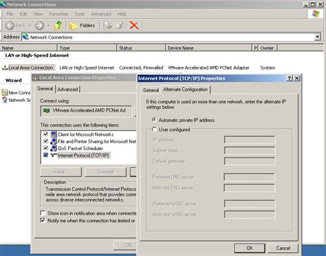 configure xp static ip windows xp using static ip at work and wireless at home