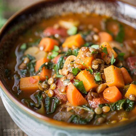 types of vegetable soups vegetable soup with lentils seasonal greens saving room for dessert