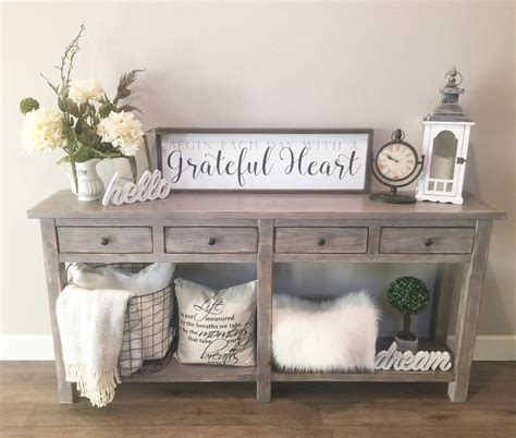entry hall table decor love my entry table farmhouse entrytable rustic home