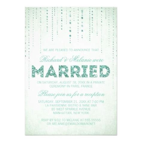 Invitation For Wedding Reception Only Wording