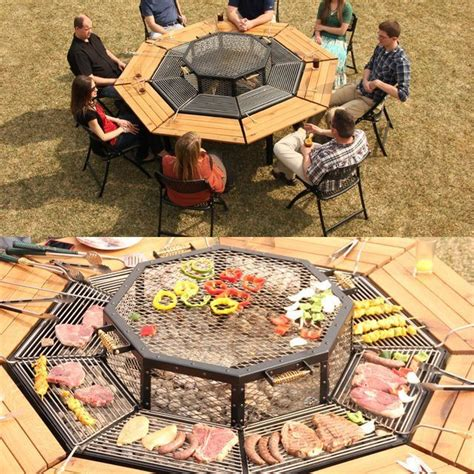 Backyard Grill Table Grill And Eat At The Same Table Jag Table Grill Lets