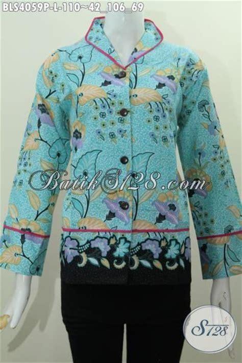 Kemeja Wanita Motif Bunga 128 batik printing motif bunga desain formal model baju