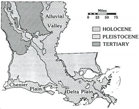 louisiana geologic map gc5ftg1 chenier earthcache in louisiana united states