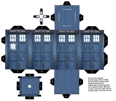 Papercraft Tardis - printable tardis 3d color pearltrees