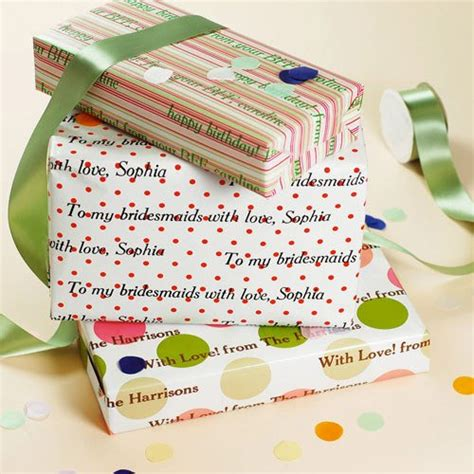 personalized gift wrap paper personalized gift wrapping paper