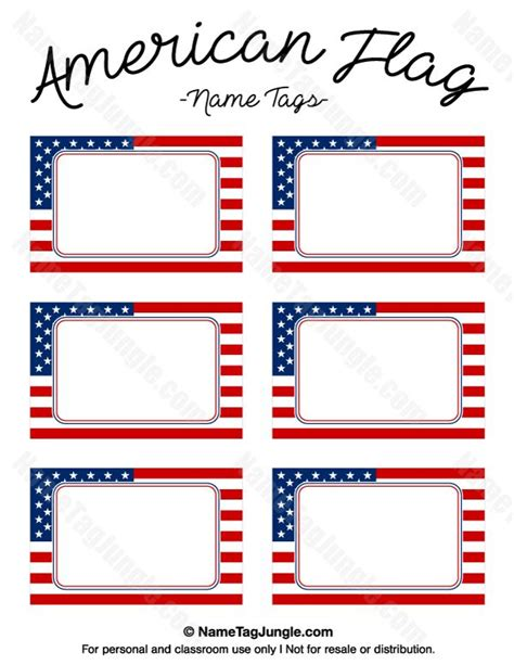 american flag template free printable american flag name tags the template can