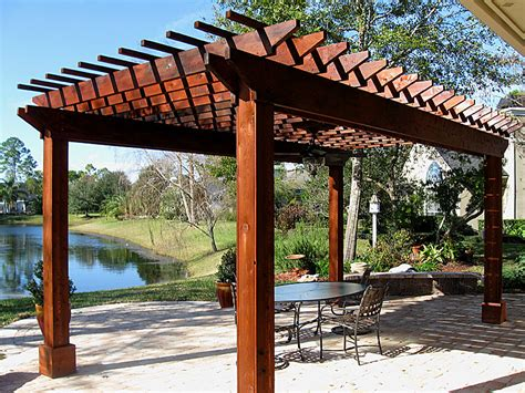 Pergolas Arbors Enhance Pavers Retaining Walls Photos Of Pergolas