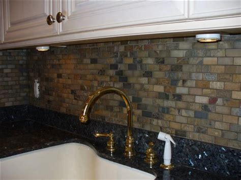 slate tile kitchen backsplash tumbled slate backsplash